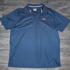 Under Armour Shirts - Under Armour Navy Grey Loose Heatgear Polo 2X XXL